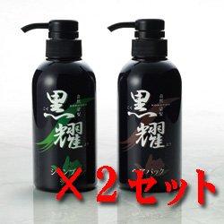 画像1: 白髪染め黒耀シャンプーQS&白髪染め黒耀ヘアパックQS ×2セット